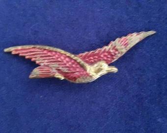 Cute 40's gull bird brooch