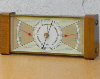 Swift & Anderson Wood Brass Weather Station
