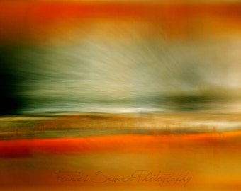 Orange and Green Landscape. Fine Art Photo
