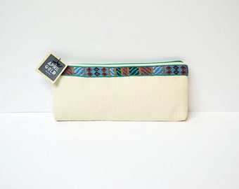 Canvas I Handmade Pouch I Make Up Bag I Pencil Case