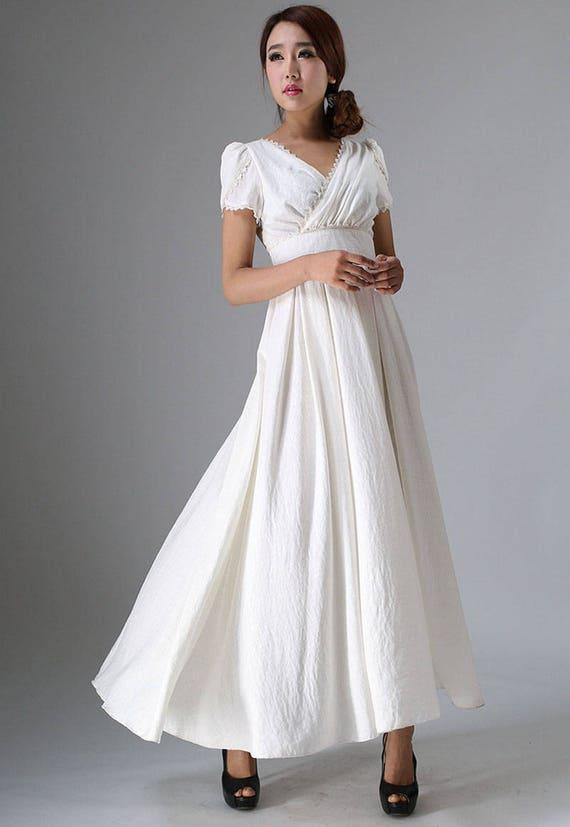 dress dress dress prom wedding party womens dress long maxi white linen dress waist dresses dress boho 959 dress empire women wxIFqzAA