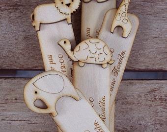 Bookmarks Wood Invitations - 5 pcs