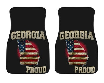 Georgia/Proud/American Flag/Car/Truck/SUV/Auto/RV/Floors Mats/Gifts/State Flag/Art/Home