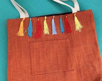Orange Handmade Tote