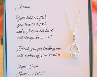 Mother of the Bride, Mother of the Groom, Mother in law gift, Mother in law gift, wedding gift, mother daughter necklace