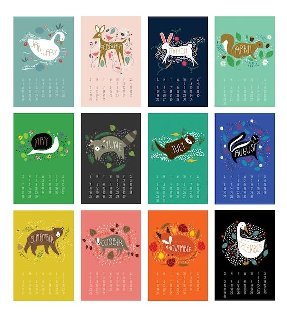 Enchanted Animals Calendar 2018 Calendar Animal Calendar