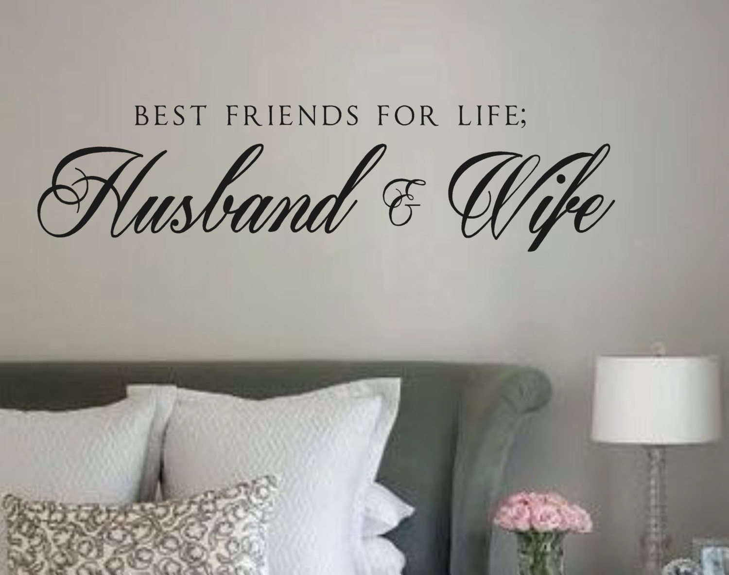 Life Wall Quotes Vinyl Wall Decalbest Friends For Life Husband & Wife Vinyl