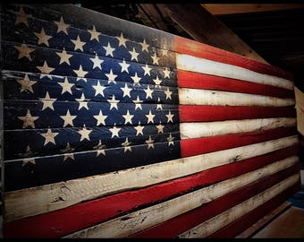 Rustic American Flag, American Flag, American Flag Sign, Weathered American Flag, Wood American Flag, Wall Flag, Old American Flag
