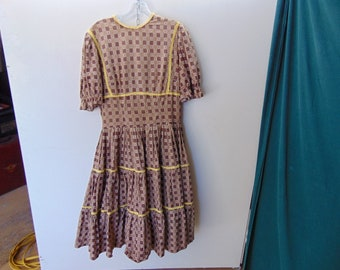 1950's Vintage Womens Cotton Swing cotton  Dress
