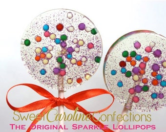 As Seen On Domino Magazine, Confetti Party Favors, Candy, Sparkle Lollipops, Lollipop, Candy Lollipop, Sweet Caroline Confections-6/Set
