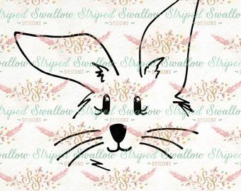 Little Bunny Hand-drawn SVG Digital Cut File