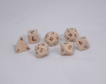 Parchment and Ink RPG Dice Set
