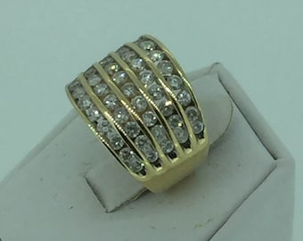 10kt Yellow Gold Lady's Wide Diamond Wedding/Anniversary Band 1.50ct total weight at an Incredible Price