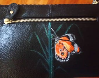 clutch/ shoulder bag with butterfly design