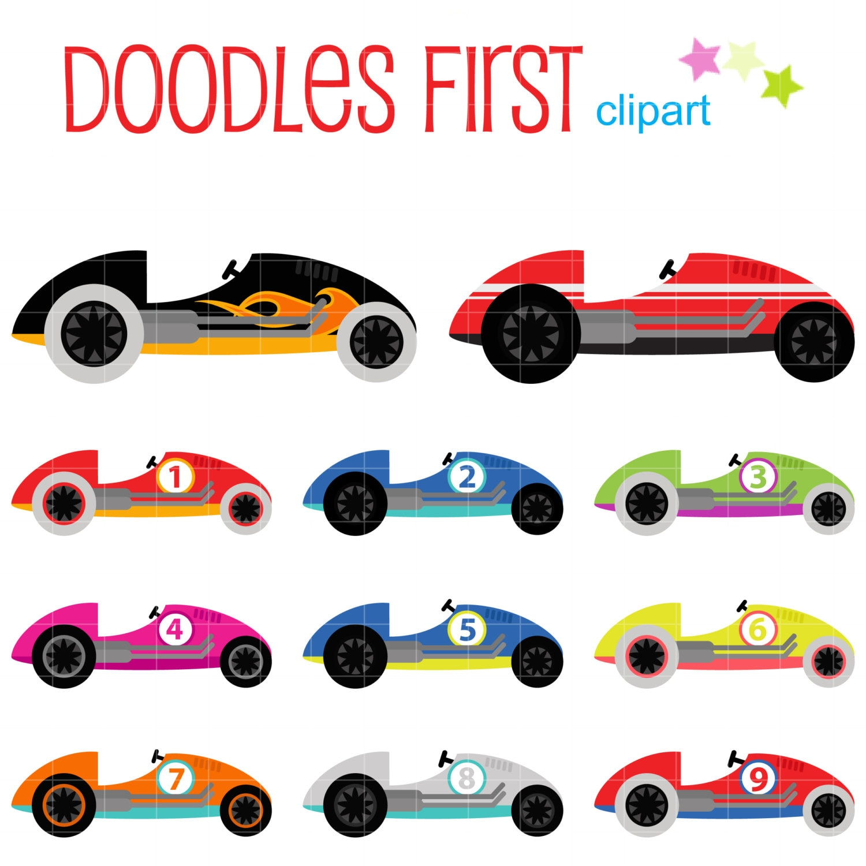 cute race cars digital clip art for scrapbooking card making rh etsy com free race car clipart images race car clipart images