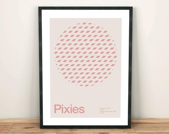 Pixies Remixed Gig Poster, Art Print, Music Poster