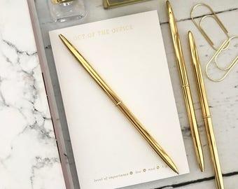 Skinny Gold Ballpoint Pen