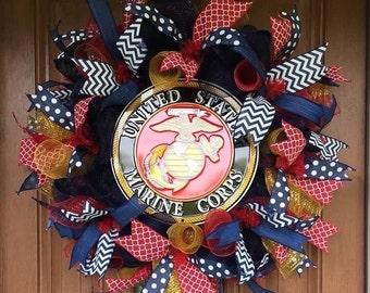 Marines Military Wreath