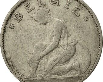 belgium franc 1922 vf(30-35) nickel km90