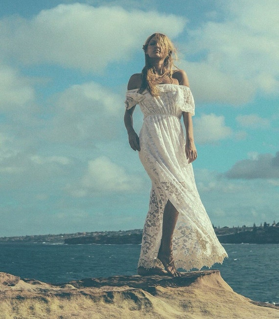 Divine Gypsy Sleeve Lace Bridal dress, Bohemian beach wedding