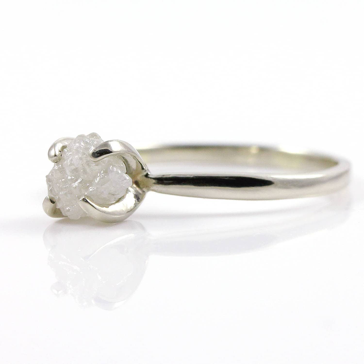 delicate engagement ring rough gold dainty rings elegant diamond raw wedding rose