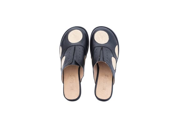 cc3aeefbd4505 free gold shipping black back dots leather women's Flat shoes ...