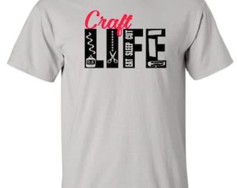 Craft Life - Crafting - Scrapbooking - Adult Unisex Tshirt