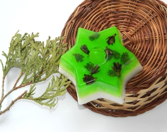 Pine soap Star Glycerin Vegan bath soap Natural soap soap gift for him Mens soap Men gift Organic soap Rustic soap Shave soap Woodland soap