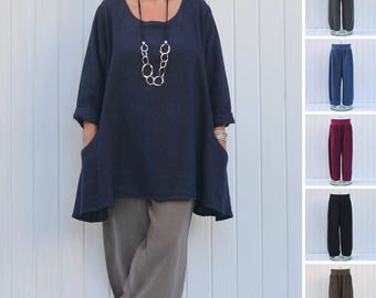 Lagenlook Plus Size Trousers Pants, *Trousers Only* Linen Clothing, Womens Clothing, Lagenlook Clothing, Linen Plus Size UK 14 16 18 20 2163