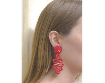 Modernist ART Signed Earrings, 1980s Earrings, Huge Earrings, Sculptural Earrings, Avant Garde, Big Earrings, 80s Earrings, Drop Earrings