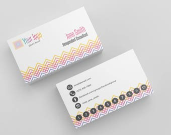 Business Cards Instant Download Printable Editable - White Hatch Punch Card Business Cards Personal Printable Custom Personalized