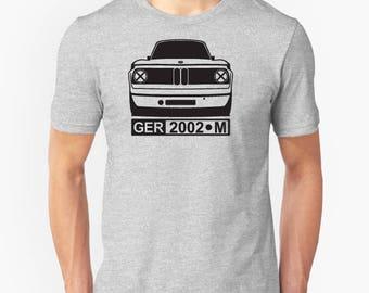 BMW 2002 retro graphic t-shirt e10 tii turbo 1600t M 3 Series M3