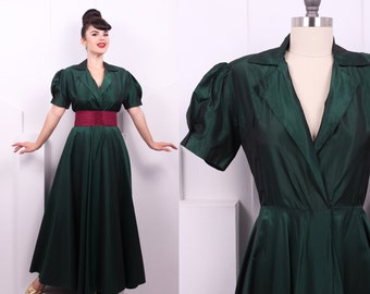 Puff Sleeve Taffeta Dresses