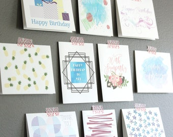 Bulk greeting cards etsy assorted greeting card boxed set bulk birthday cards note card assortment variety card set blank greeting card variety card set m4hsunfo