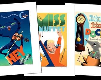 Set of 3 more Nursery Rhyme posters