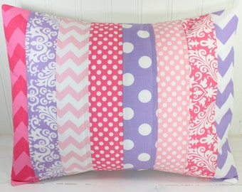 Nursery Decor, Pillow Cover, Baby Girl, Decorative Pillows, Baby Bedding, 12x16, Throw Pillows, Cushion Cover, Pink, Lavender, White, Purple