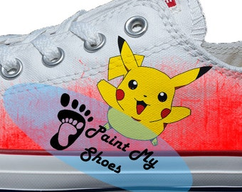 Anime shoes, converse, kawaii shoes, hand painted shoes, free shipping in the US