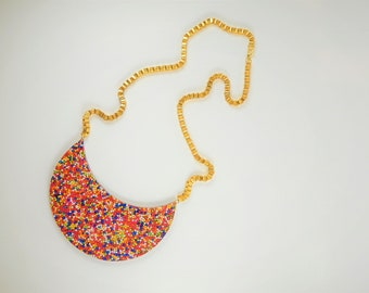 Chunky necklace, Statement Necklace, Sprinkles Jewelry, Colorful jewelry, Colorful necklace, Pendant necklace, Gift for her