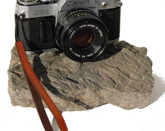 Hand Made Leather Camera Wrist Strap with Nylon Attachment
