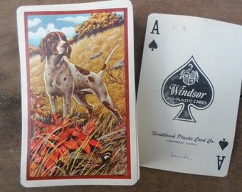 vintage deck of Playing Cards ANTIQUE HUNTING DOG