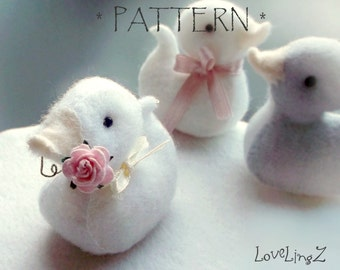 Pattern and Tutorial PDF LoveLingZ Duckling,  instant download duck plushie pattern
