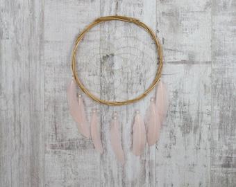 Blush Pink Wall Hanging Dream Catcher - Boho Dream Catcher Wall Hanging with 20 colour choices!