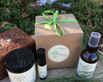 Gift box Organic skin care gift set Gifts for her Natural Skincare