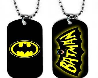 DOG TAG NECKLACE - Batman 5 Bruce Wayne Superhero Comic Book Art