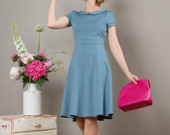 """Dress """"Julie"""" in blue-gray"""