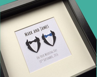 Personalised Gay Wedding Gift:  Gay anniversary Gift, Gay marriage Gift *
