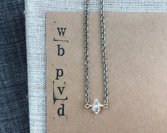 herkimer diamond necklace.