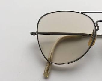 Vintage 1960s Silver Frame Eyeglasses