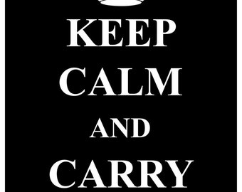 KC03 Keep Calm and Carry On Poster Print