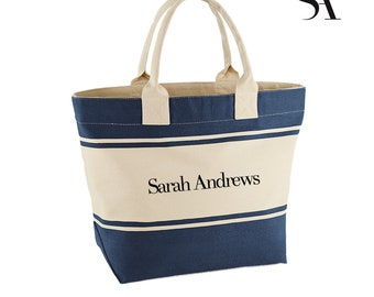 PERSONALISED Canvas Deck Bag - Free UK Shipping